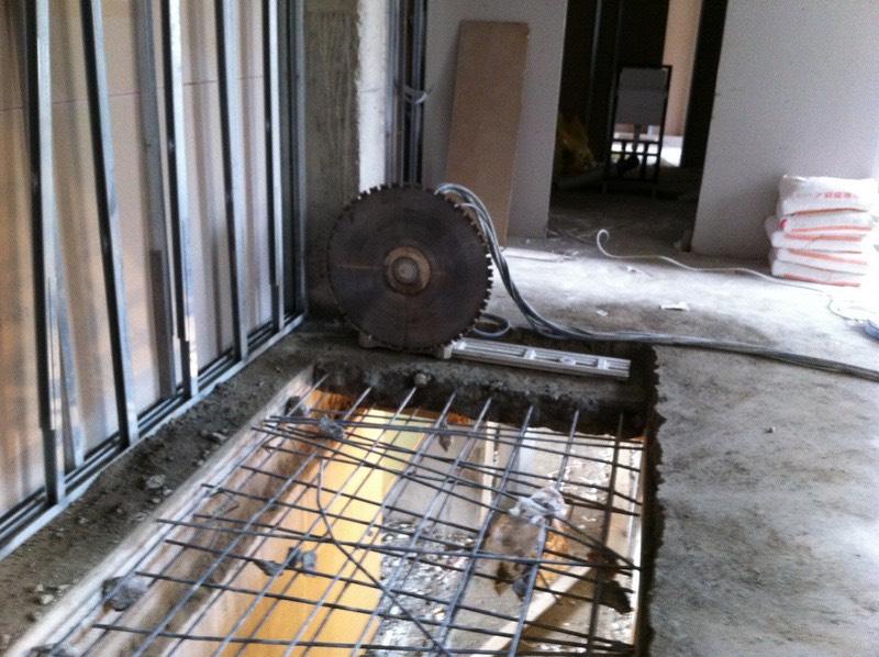 Hidrolik beton kesme makinesi ile döşeme kesimi