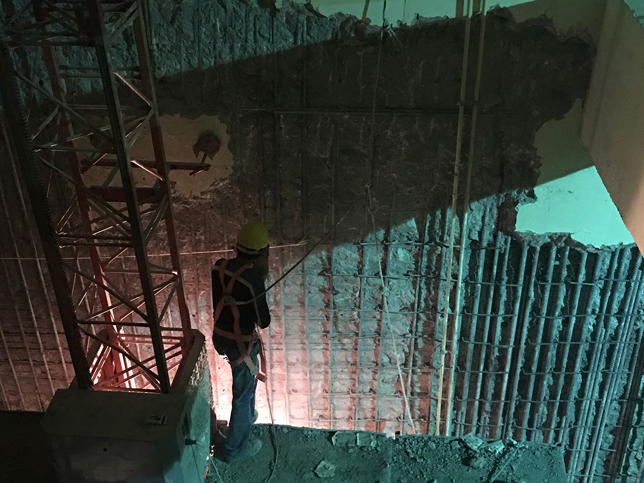 Betonarme perde korozyon onarımı