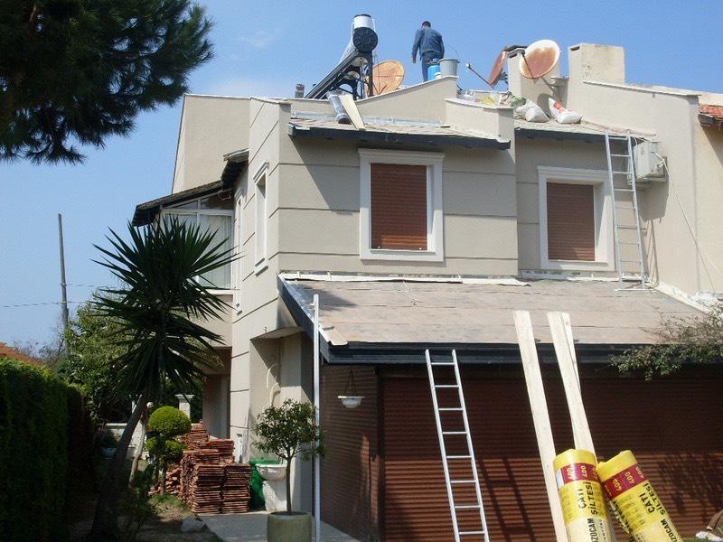 Villa çatı aktarım ve izolasyonu