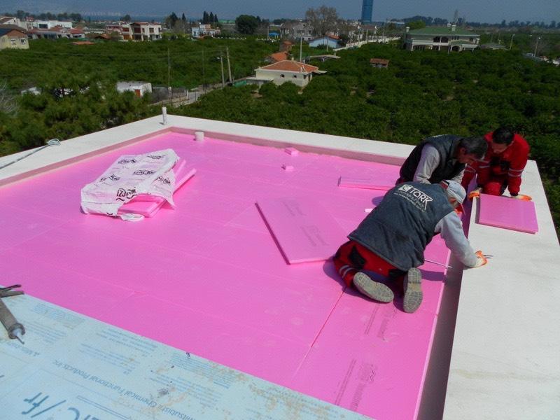 Teras çatı su ve ısı izolasyonu