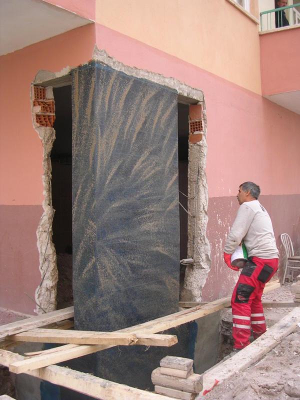 Karbon lifli kumaş ile betonarme kolon güçlendirme