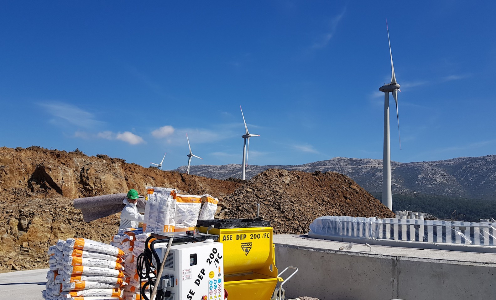 Rüzgar Enerji Santrali (RES) Load Ring Grout Uygulaması